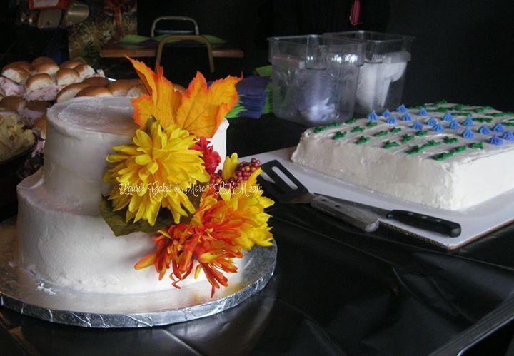Kayla wedding cake and sheet cake