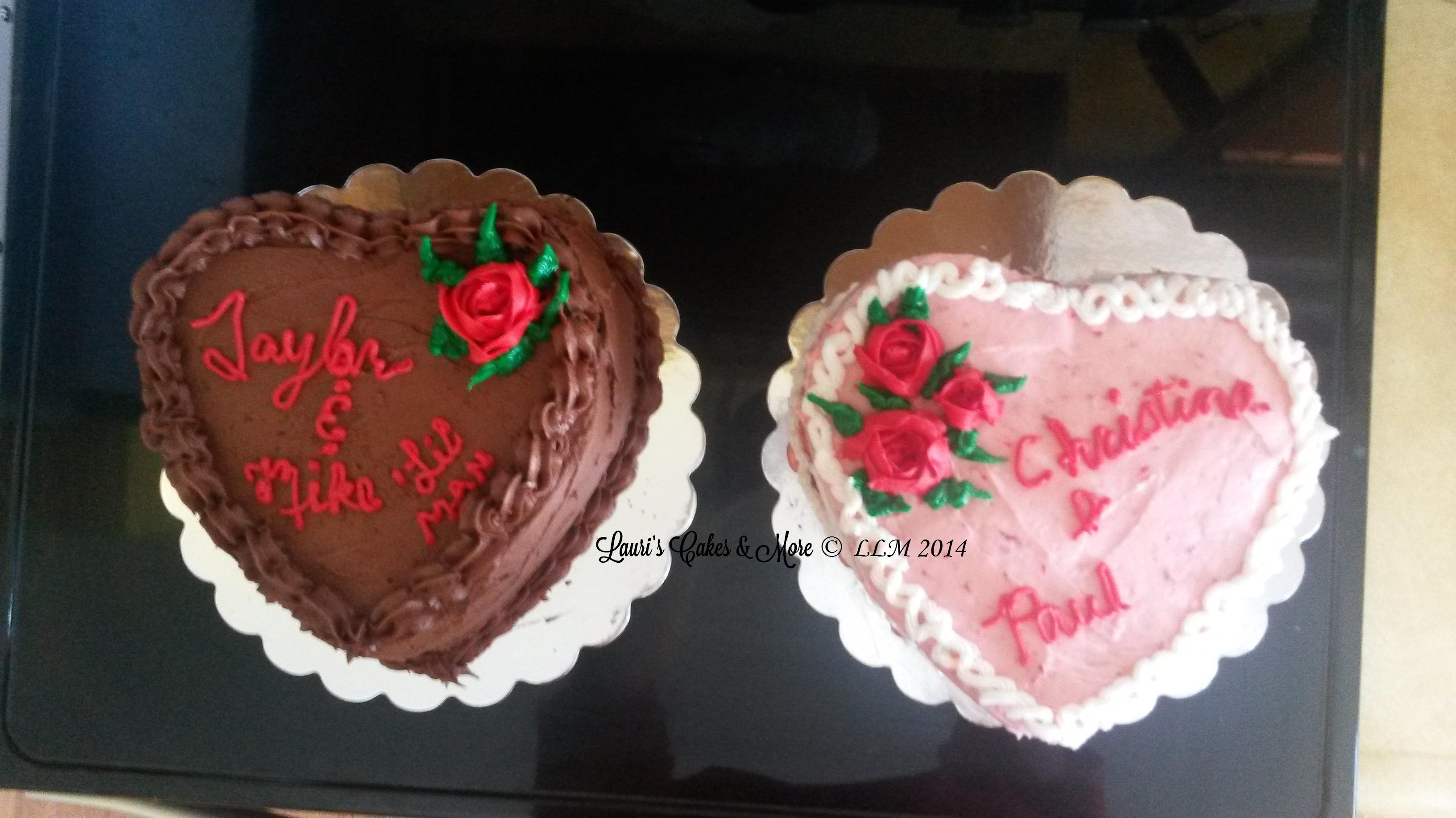 Valetine cake chocolate and strawberry 2014